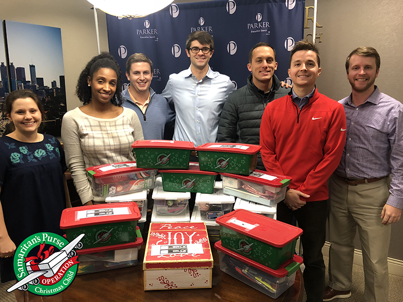Parker Executive Search Team - Operation Christmas Child